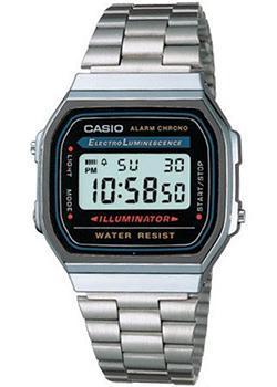 Японские наручные  мужские часы Casio A-168WA-1. Коллекция Illuminator