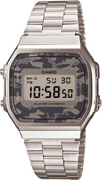 Японские наручные  мужские часы Casio A-168WEC-1E. Коллекция Standart Digital