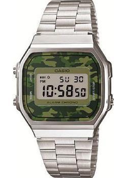 Японские наручные  мужские часы Casio A-168WEC-3E. Коллекция Standart Digital