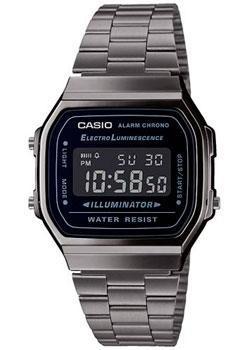 Японские наручные мужские часы Casio A168WEGG-1BEF. Коллекция Digital фото