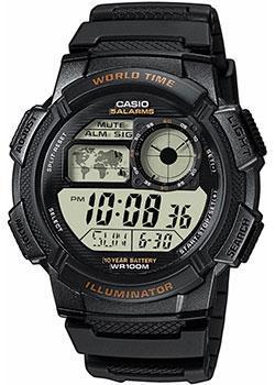 Японские наручные  мужские часы Casio AE-1000W-1A. Коллекция Digital