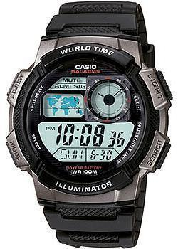 Японские наручные  мужские часы Casio AE-1000W-1B. Коллекция Classic&digital timer