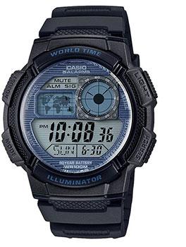 Японские наручные  мужские часы Casio AE-1000W-2A2VEF. Коллекция Digital
