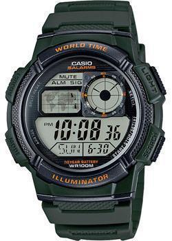 Японские наручные  мужские часы Casio AE-1000W-3A. Коллекция Digital