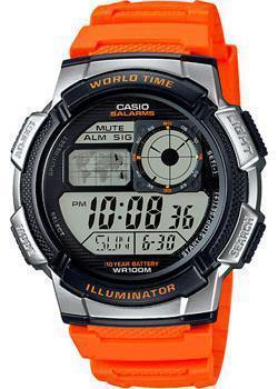 Японские наручные  мужские часы Casio AE-1000W-4B. Коллекция Digital