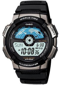 Японские наручные мужские часы Casio AE-1100W-1A. Коллекция Digital