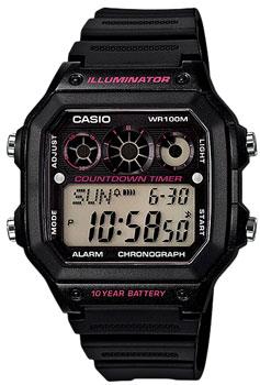Японские наручные  мужские часы Casio AE-1300WH-1A2. Коллекция Illuminator