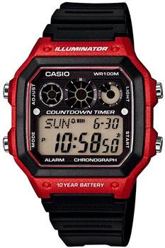Японские наручные  мужские часы Casio AE-1300WH-4A. Коллекция Illuminator