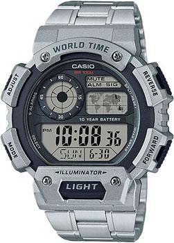 Японские наручные  мужские часы Casio AE-1400WHD-1A. Коллекция Digital