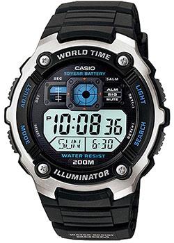 Японские наручные мужские часы Casio AE-2000W-1A. Коллекция Digital фото
