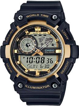 Японские наручные  мужские часы Casio AEQ-200W-9A. Коллекция Ana-Digi