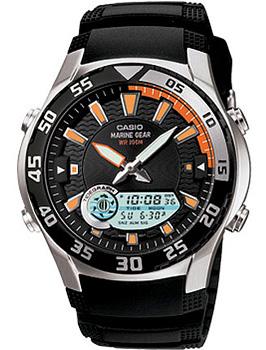 Японские наручные мужские часы Casio AMW-710-1A. Коллекция Ana-Digi