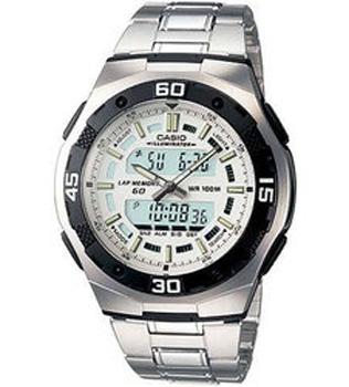 Японские наручные  мужские часы Casio AQ-164WD-7A. Коллекция Combinaton Watches - Casioмногофункциональные наручные часы, электролюминисцентная подсветка, обеспечивающая равномерное освещение всего циферблата облегчая считывание данных. характеризуется наличием функции задержки отключения, благодаря которой электролюминесцентная подсветка горит еще несколько секунд после отпускания кнопки освещения. необритовое светонакопительное покрытие обеспечивает длительное послесвечение в темноте даже после кратковременного нахождения на свету. одновременное отображение текущего времени в двух разных часовых поясах. секундомер с точностью показаний 1/100 сек и максимальным временем измерения - 100 час. память промежуточных результатов (время, дата) - 60 ячеек. таймер с функцией автоповтора. 3 программируемых будильников на ежедневный сигнал (только время) и сигнал на определенное время в определенный день (месяц, день и время). функция повтора сигнала будильника (snooze). автоматический календарь. стекло имеет сферическую поверхность. браслет из нержавеющей стали. браслетный замок с тройным сгибом, растегиваемый одним касанием. срок службы батареи 3 года.<br>