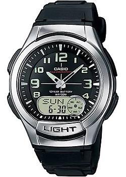 Японские наручные  мужские часы Casio AQ-180W-1B. Коллекция Combinaton Watches