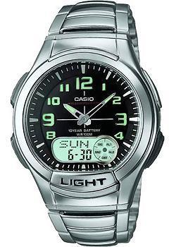 Японские наручные  мужские часы Casio AQ-180WD-1B. Коллекция Ana-Digi