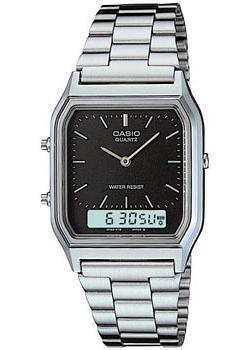 Японские наручные  мужские часы Casio AQ-230A-1D. Коллекция Combinaton Watches