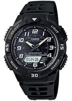 Японские наручные  мужские часы Casio AQ-S800W-1B. Коллекция Ana-Digi