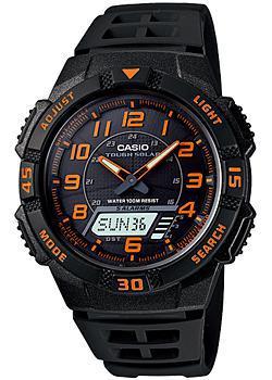 Японские наручные  мужские часы Casio AQ-S800W-1B2. Коллекция Ana-Digi