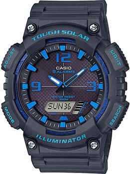 Японские наручные  мужские часы Casio AQ-S810W-8A2VEF. Коллекция Ana-Digi