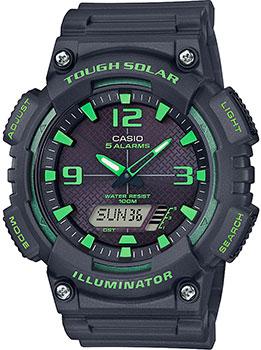 Японские наручные  мужские часы Casio AQ-S810W-8A3VEF. Коллекция Ana-Digi