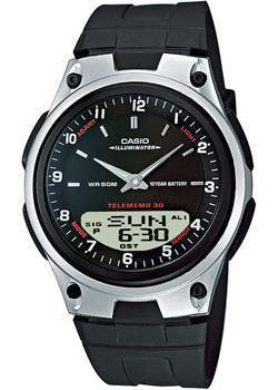 Японские наручные мужские часы Casio AW-80-1A. Коллекция Ana-Digi фото