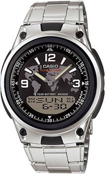 Японские наручные  мужские часы Casio AW-80D-1A2. Коллекция Combinaton Watches