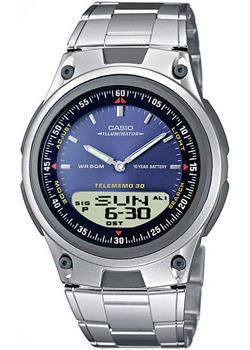 Японские наручные  мужские часы Casio AW-80D-2A. Коллекция Combinaton Watches