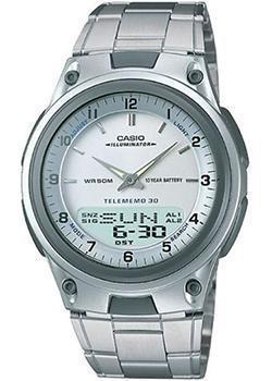 Японские наручные  мужские часы Casio AW-80D-7A. Коллекция Combinaton Watches