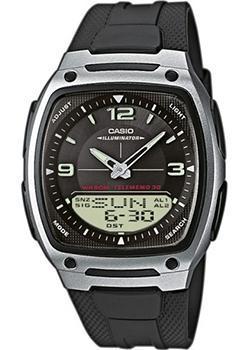Японские наручные  мужские часы Casio AW-81-1A1. Коллекция Combinaton Watches