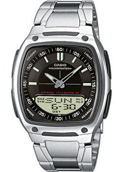 Японские наручные  мужские часы Casio AW-81D-1A. Коллекция Combinaton Watches