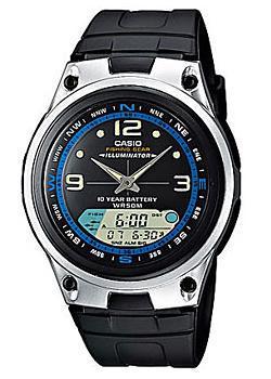 Японские наручные  мужские часы Casio AW-82-1A. Коллекция Combinaton Watches