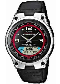 Японские наручные  мужские часы Casio AW-82B-1A. Коллекция Combinaton Watches