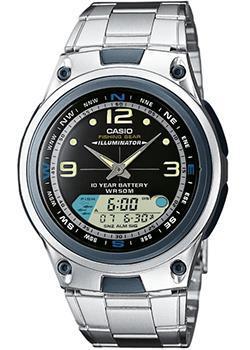 Японские наручные  мужские часы Casio AW-82D-1A. Коллекция Combinaton Watches