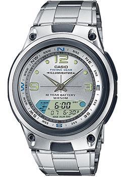 Японские наручные  мужские часы Casio AW-82D-7A. Коллекция Combinaton Watches