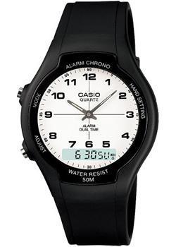 Японские наручные мужские часы Casio AW-90H-7B. Коллекция Ana-Digi