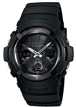 Японские наручные мужские часы Casio AWG-M100B-1A. Коллекция G-Shock фото