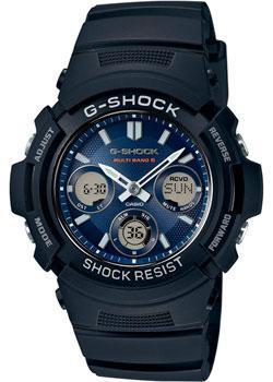 Японские наручные мужские часы Casio AWG-M100SB-2A. Коллекция G-Shock фото