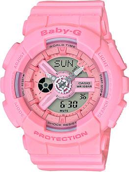Японские наручные  женские часы Casio BA-110-4A1. Коллекция Baby-G