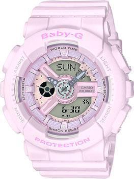 Японские наручные  женские часы Casio BA-110-4A2. Коллекция Baby-G