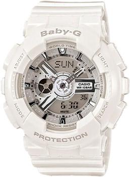 Японские наручные  женские часы Casio BA-110-7A3. Коллекция Baby-G
