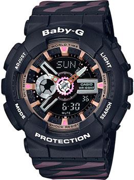 Японские наручные  женские часы Casio BA-110CH-1A. Коллекция Baby-G
