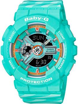 Японские наручные  женские часы Casio BA-110CH-3A. Коллекция Baby-G