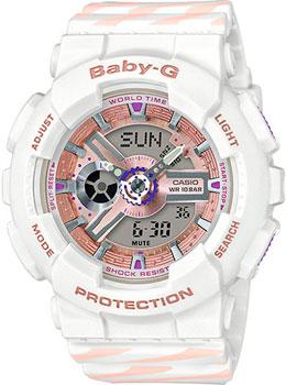 Японские наручные  женские часы Casio BA-110CH-7A. Коллекция Baby-G