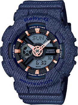 Японские наручные  женские часы Casio BA-110DE-2A1. Коллекция Baby-G