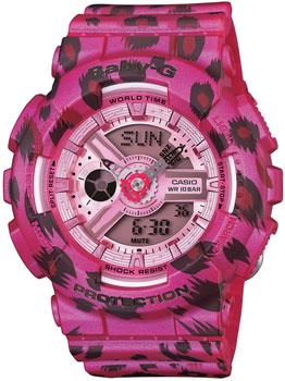 Японские наручные  женские часы Casio BA-110LP-4A. Коллекция Baby-G