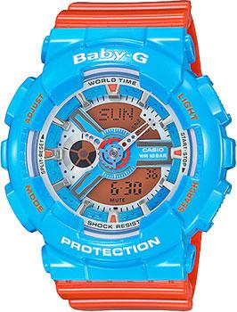 Японские наручные  женские часы Casio BA-110NC-2A. Коллекция Baby-G