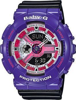 Японские наручные  женские часы Casio BA-110NC-6A. Коллекция Baby-G