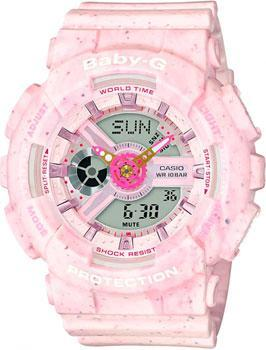 Японские наручные  женские часы Casio BA-110PI-4AER. Коллекция Baby-G