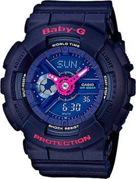 Японские наручные  женские часы Casio BA-110PP-2A. Коллекция Baby-G