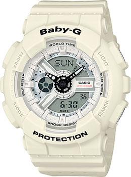 Японские наручные  женские часы Casio BA-110PP-7A. Коллекция Baby-G